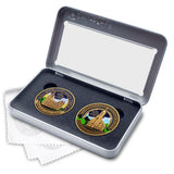 Salt Lake and Cedar City Temples double Medallion gift set