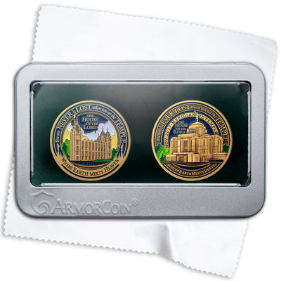 Salt Lake Temple and Meridian Idaho Temples gift set