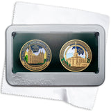Salt Lake Temple and Payson Temple double medallion gift box set