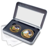 Salt Lake and Payson Temples two medallion gift set