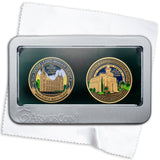 Salt Lake and Saint George Temples double medallion gift set