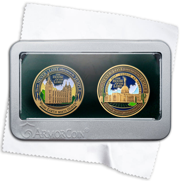 Salt Lake and Tucson Arizona two medallion gift