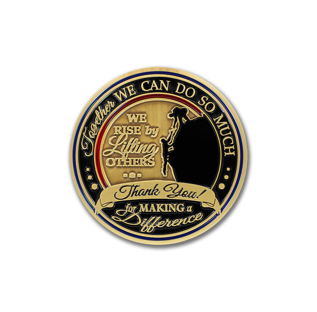 Emblems of Thanks and Gratitude coin