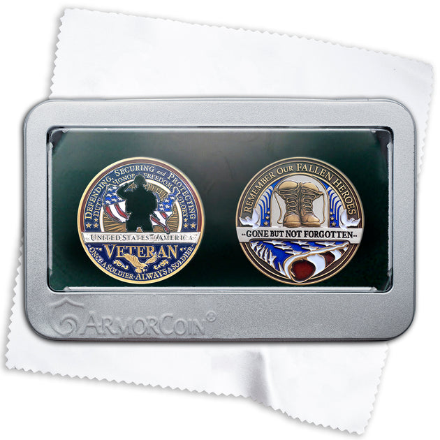 Fallen Hero and Veteran double coin gift set