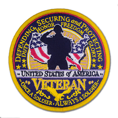 US Military Veteran Embroidered Patch