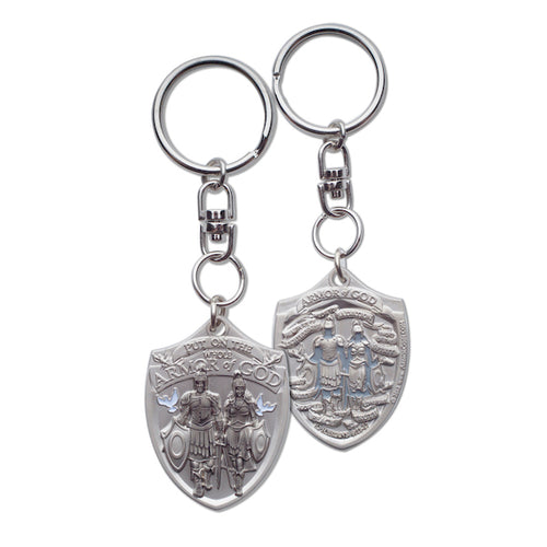 Armor of God Shield shaped key chain