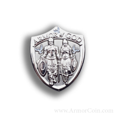 Armor of God Collectible Pin Shield