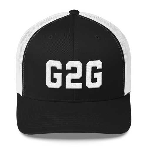 G2G Retro Trucker Cap - White Embroidery