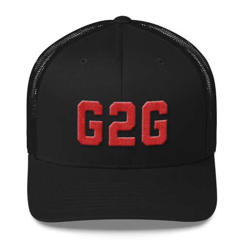 G2G Retro Style Trucker Snapback - Black and Red