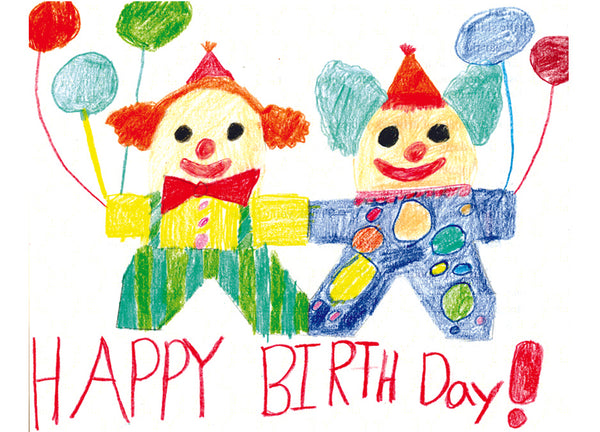 Happy Birthday Clowns Card