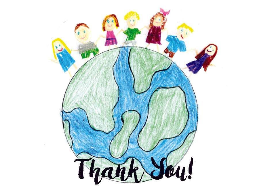 Thank You Children On Earth Card