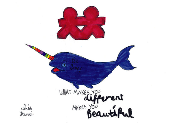 Friendship Narwhale Card