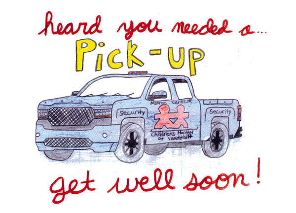 Get Well Pick-up Card