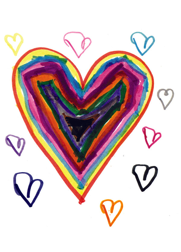 Friendship Rainbow Heart Card