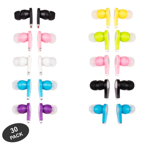 JustJamz Earbuds  In-Ear 3.5mm Stereo - 30 pack
