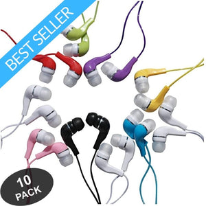 Jelly Roll Earbuds In-Ear 3.5mm Stereo - 10 Pack