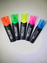 Rainbow Highlighters, Fluorescent Mix Colors Markers with Chisel Tip - 10 Pack