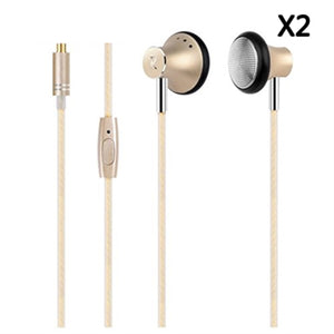 Gold Flight Pro Earbuds 2.1 In-Ear Premium Super Bass - 2 pack