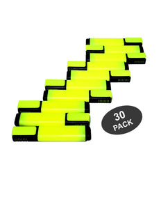 Star Highlighters, Fluorescent Yellow Markers with Chisel Tip - 30 Pack