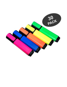 Star Highlighters, Fluorescent Mix Colors Markers with Chisel Tip- 30 Pack