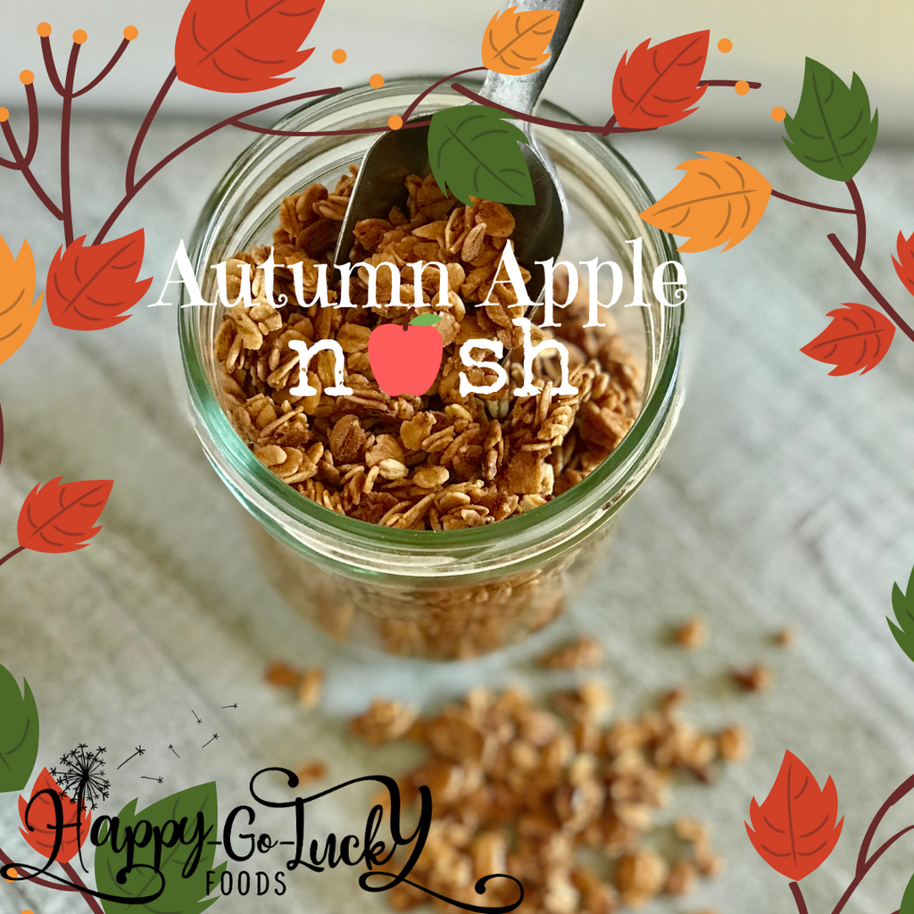 Autumn Apple Nosh  ~ Seasonal Granola Clusters