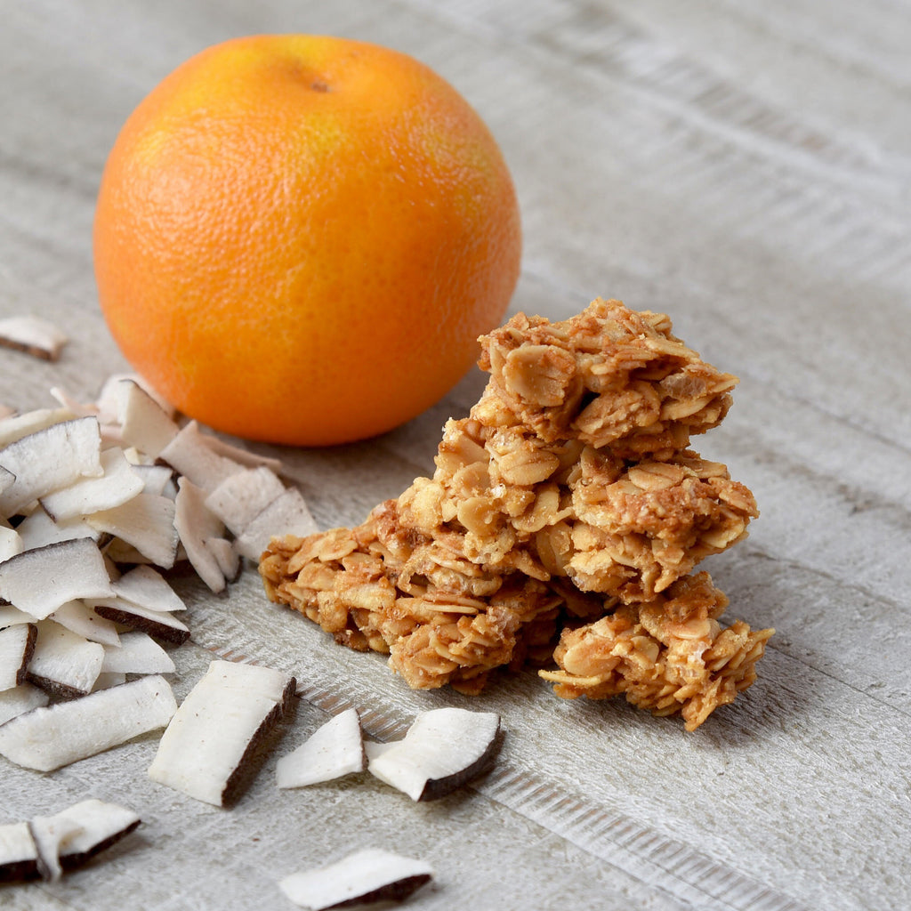 Orange Coconut Nosh ~ Granola Clusters
