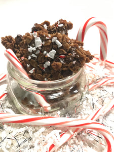 Dark Chocolate Peppermint Bark Nosh ~ Granola Clusters
