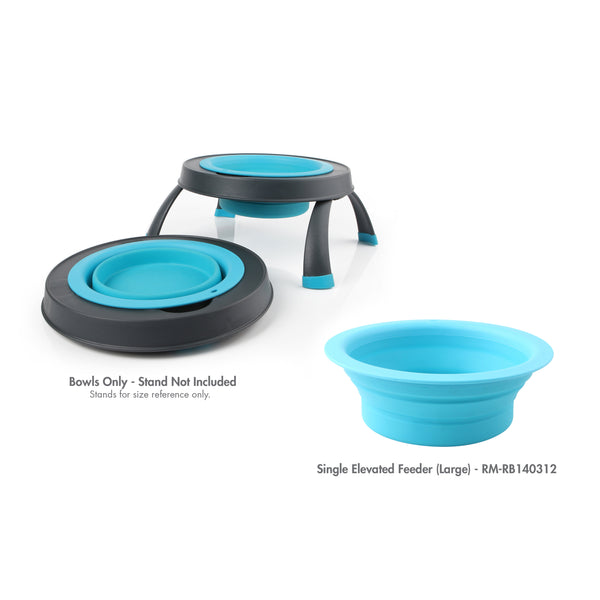 Replacement Bowls (New Colors) for Elevated, Collapsible Feeders.