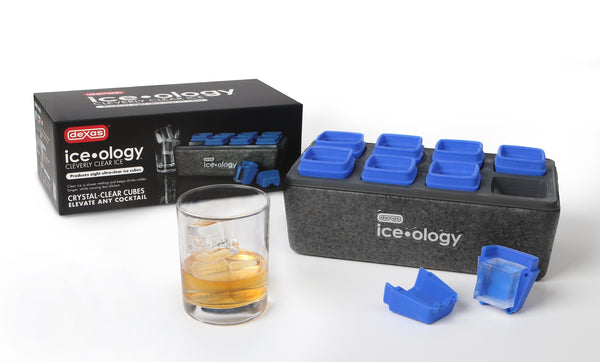 Dexas ice•ology™ Clear Ice Cube Trays (8 Small Cubes)