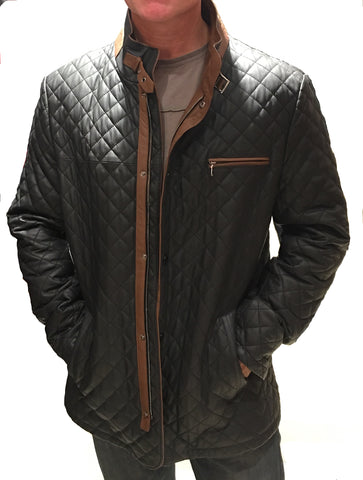Bergen of Norway Mens Munich Quilted Leather Jacket - Bergen Of Norway