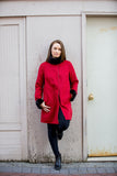 Bergen Of Norway Kari Coat Red Cashmere Mink Coat