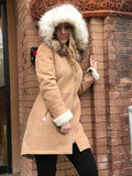 Bergen of Norway Sand Kimberly Shearling Coat - Bergen Of Norway