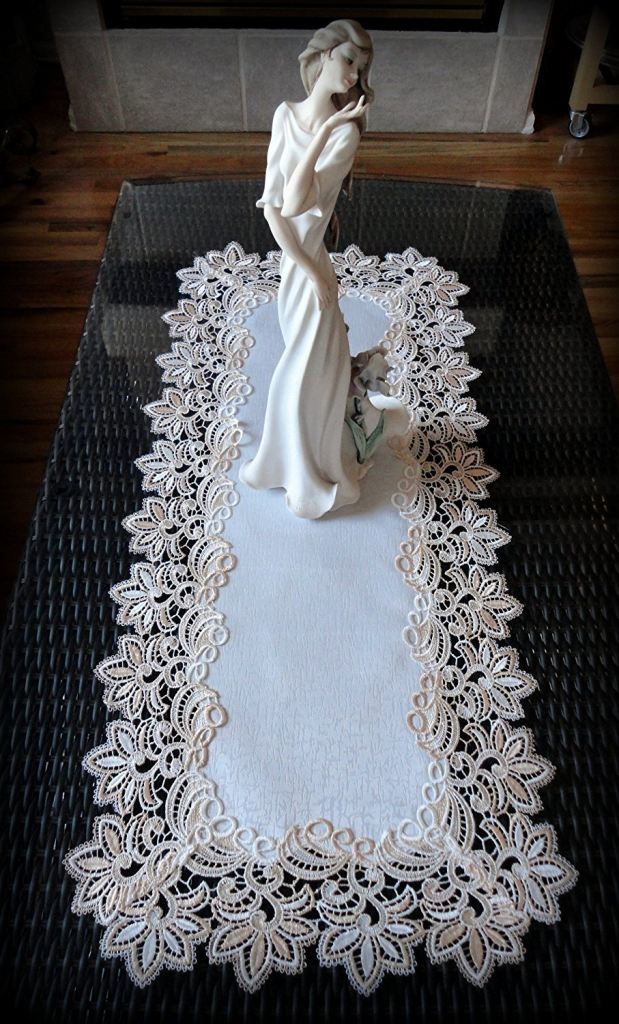 54 Quot Table Runner Dresser Scarf Delicate Ivory With Blush
