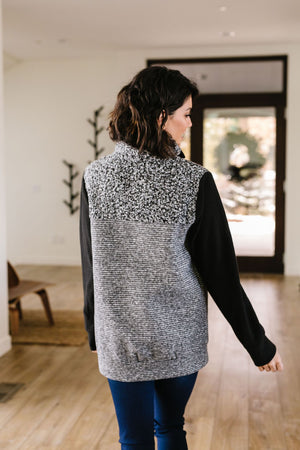 Dappled Black & Gray Pullover