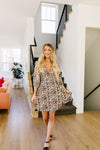 Mindy Animal Print Midi Dress