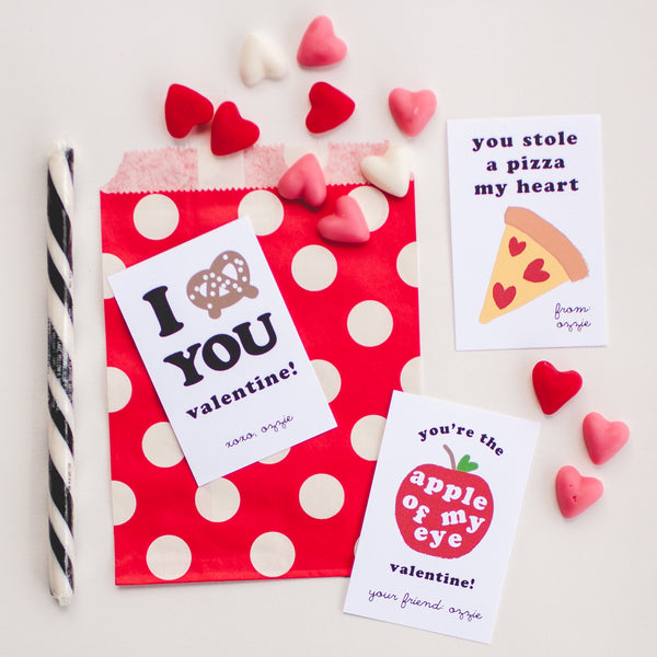 FAVORITE FOOD | Personalized Classroom Valentines (printed or digital pdf)