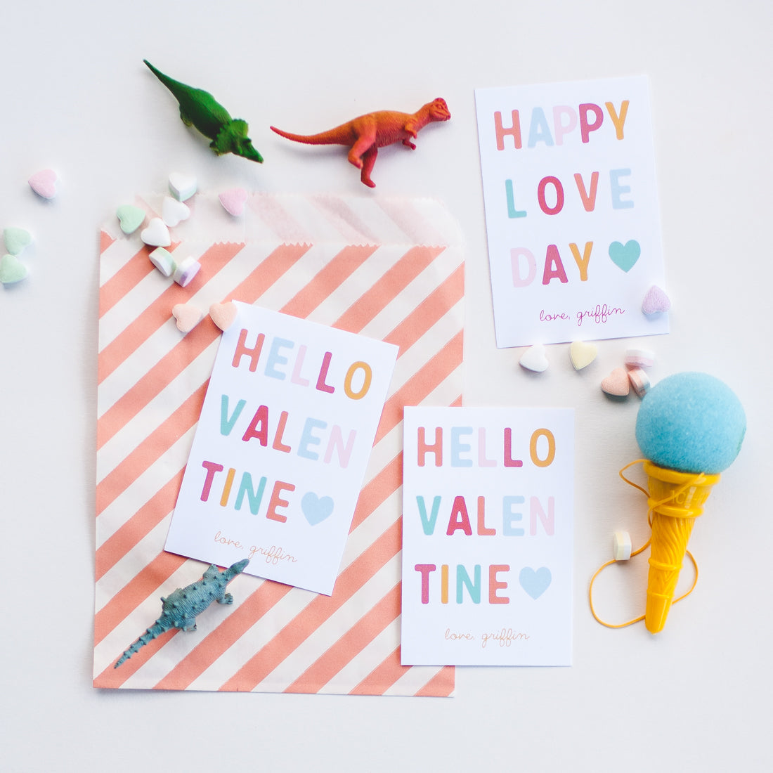 HELLO VALENTINE | Personalized Classroom Valentines (printed or digital pdf)