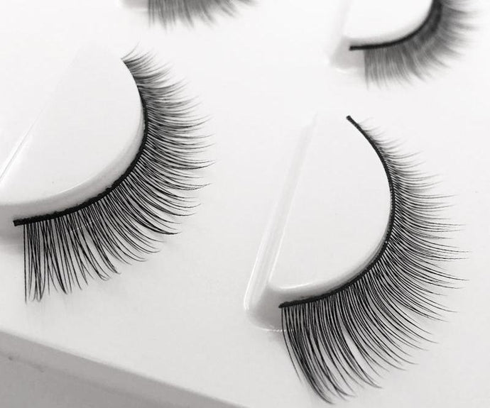 Synthetic Natural Long False Lashes - 3 Pairs