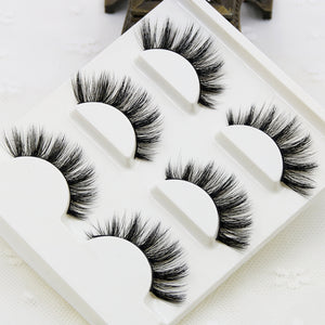 Synthetic Long Fairy Lashes -3 Pairs
