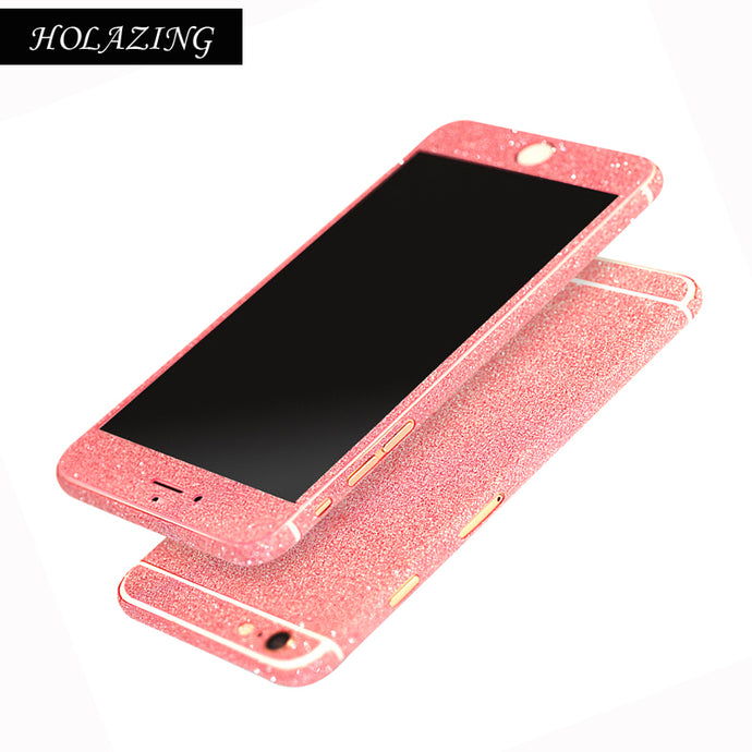 Full Body Glitter Bling Sticker For iPhone X 8 7 Plus 6S Plus 5S 5 5C SE 4S 4 Luxury Shining Anti-Finger Skin Film Cover Case - Your Beauty Outlet