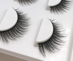 3 Pair Natural Long Mink Eyelashes - Your Beauty Outlet