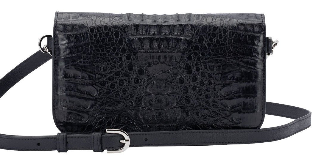 Alligator Black Clutch
