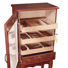 Belmont Humidor End Table 600 Cigars Count Cabinet