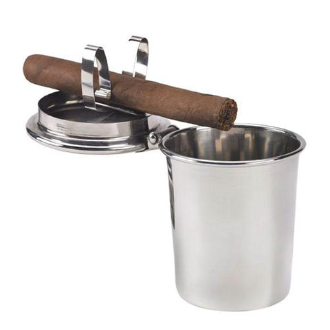 Image of 1 Stirrup Stinky Car Ashtray - Stainless Steel - Shades of Havana