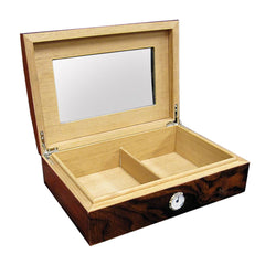 Addison Humidor - Walnut Burl 40 Cigar Count - Prestige Import Group