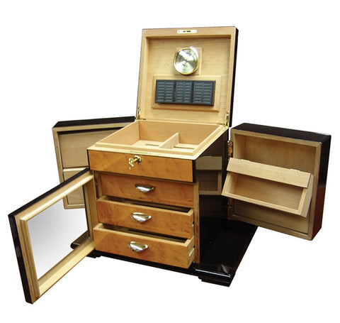Baccus Large Humidor 200 Ct. Cigar Capacity - Shades of Havana