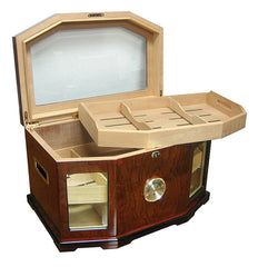Chancellor Large Glass Top Humidor 300 Cigar Count | Gloss