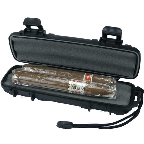 Image of Cigar Caddy 2 Stick Travel Humidor - Hard Case Humidor - Shades of Havana
