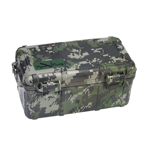 Image of Cigar Caddy Travel Humidor - 15 Cigars Camouflage - Water Resistant - Shades of Havana