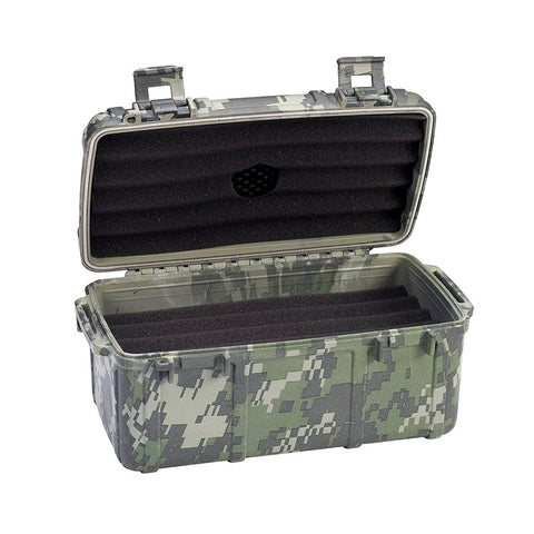 Cigar Caddy Travel Humidor - 15 Cigars Camouflage - Water Resistant - Shades of Havana